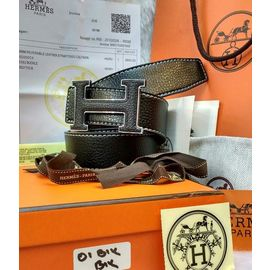 New Stylish Hermes Black Buckle Black Belt For Men