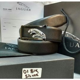 Jaguar Leather Black Color Belt For Men