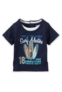 Smart Navy Blue 'Surf Masters' Tee-Shirt, 5 years