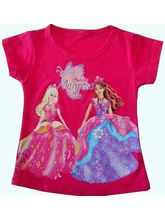 Girls T Shirt With Barbie Mariposa Print, 12-18 M