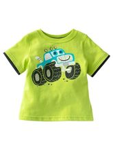 Bright Green T-shirt -Cars, 2 Years
