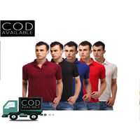 Combo of 5 polo neck t-shirts, 44
