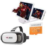 Buy VR BOX with Maginifier AND GET samsung 128 GB Evo memory card Just in Rs 1099 only