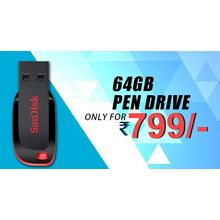 Buy 64GB Pendrive only on just Rs. 799