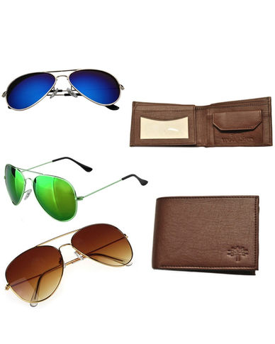 Branded Aviator with Woodland Purse and Earphone Just Rs 849 Only
