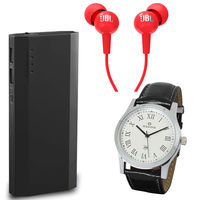 Mi / Samsung 16800 Powerbank JBL Earphone with Maxima Watch Combo in Just Rs 1299