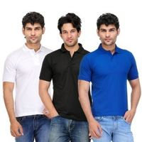 TSX Exquisite Cotton Blend Multi Color Polo T-Shirt Pack Of 3 Rs 399 only, xxl
