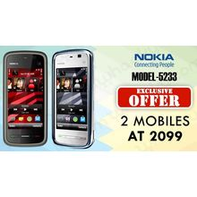 Buy 2 Nokia 5233 Mobiles Only Rs. 2099