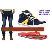 BRANDED JEANS SLIPPER AND SHOES ALL THREE RS 2 ONLY, 34, free size