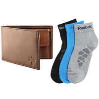 Buy 3 Pairs Adidas Socks with Woodland Wallet Just Rs. 299