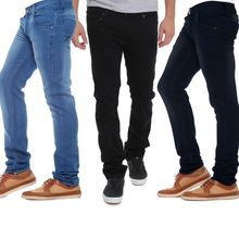 Pack Of 3 Black Blue Mid Rise Branded Jeans For Men Just Rs. 849, 34