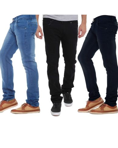 Pack Of 3 Black Blue Mid Rise Branded Jeans For Men Just Rs. 849
