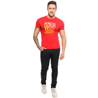 Signature Startup Accessories Printed T-shirt, s, red
