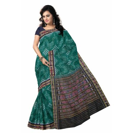 OSS7305: Green Pasapalli Handloom cotton sari