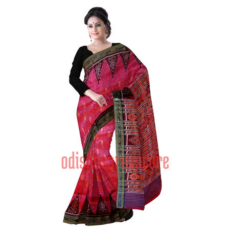 OSS283: Soft Pink color Famous Sambalpuri Katki silk Saree for bridal wear