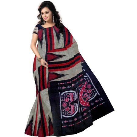 OSS7312: Multicolor handloom traditional tant sarees of Odisha