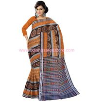 OSS7021 Handloom brown color cotton sarees
