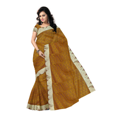 OSSAP006: Honey color traditional kanchi Silk Saree