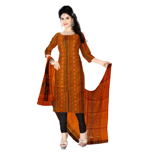 OSS212: Exclusive handloom cotton Odisha kurti with plain kameez for office wear which suit You