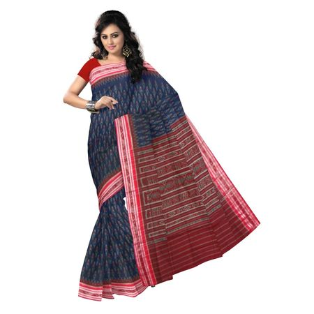 OSS9037: Deep Navy Blue color handloom cotton sarees.
