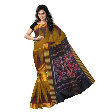 OSS7459: Odisha Made best quality Mustard color assured handloom cotton sari