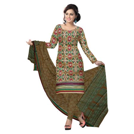 OSSTG6219: Multicolor handwoven cotton ladies dress material with beautiful design