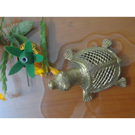 OHD025: Turtle dhokra to decorate your puja room.