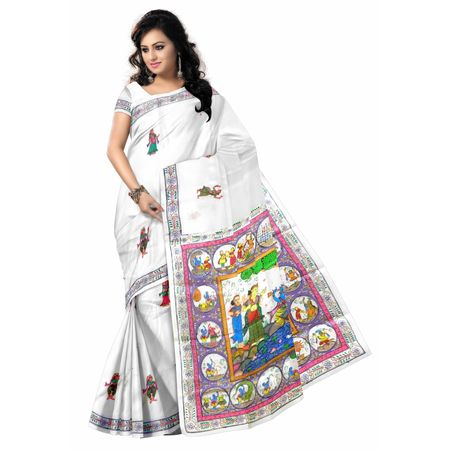 OSS20015: Patachitra painting silk saree