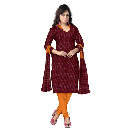 OSS1033: Maroon with Orange Women's Suit Set for all Occasions