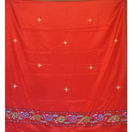 OSS300069: Red color handpainted patachitra dupatta online shopping.