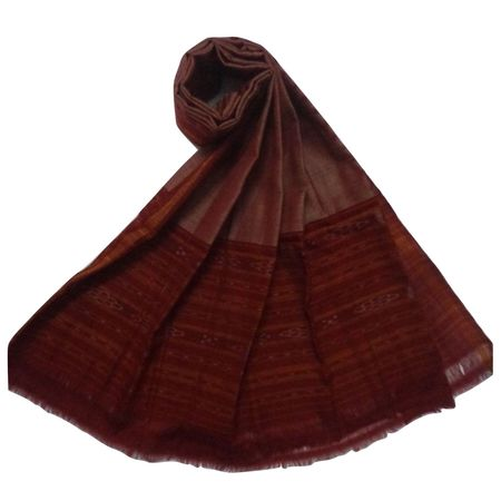 OSS3575: Maroon color cotton Dupatta for festival wear