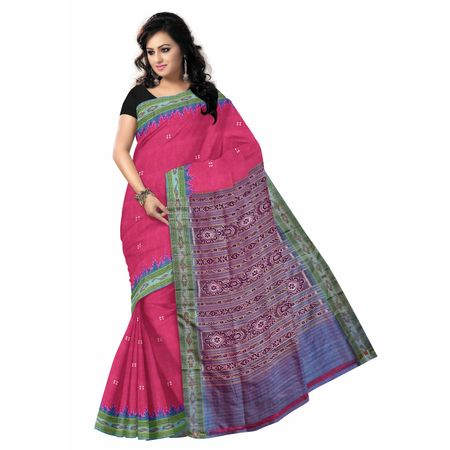 OSS014: Soft Pink color Handloom cotton sarees