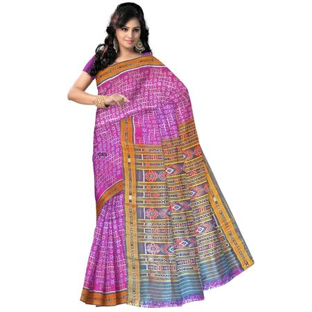 OSS168: Light Violet color Pure Silk Kotki Ikat silk Saree for festival wear