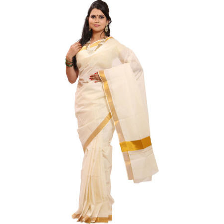 OSSKL002: Kerala handloom enthnic sari kasavu design| Number One Kerala Saree