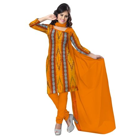 OSS6202: Bargarh yellow color ladies Dress Materials
