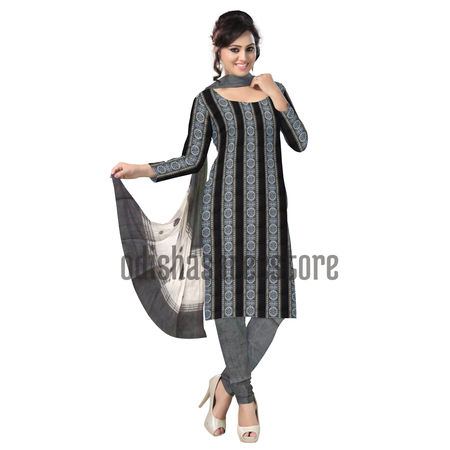 OSS092: Konark chakra Black color Salwar set and Dupatta
