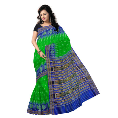 OSS5014: Green Handloom Silk Saree for bridal wear
