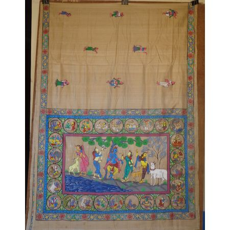 OSS500: Tussar patachitra saree