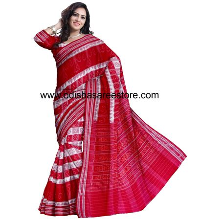 OSS7479: Latest sambalpuri collection handloom cotton sarees for puja wear