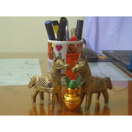 OHD006: Horse design Indian handicrafts online Dhokra.