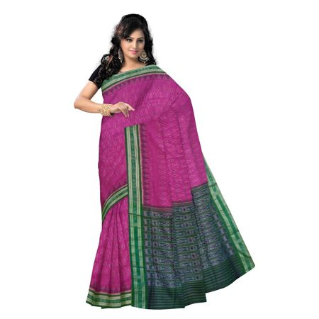 OSS412: Pink Handwoven cotton sari for office wear