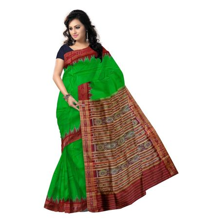 OSS5140: Green color lovely handloom pure silk saree for bridal wear