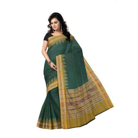 OSS968: Green handwoven cotton sarees online available in india