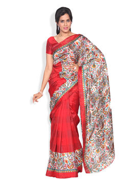 Kanchana Red Colour Bhagalpuri Silk Sarees