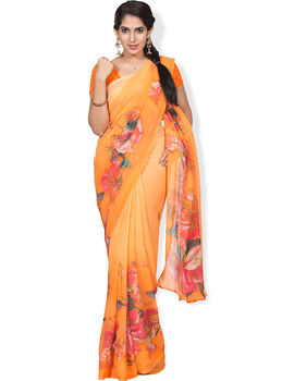 Nanal Orange Colour Saree