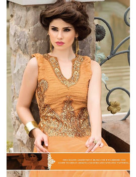 Roma Mustard Colour Gown