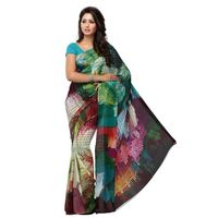 True Trendz Swanky Printed Multicolor Weightless Designer Saree With Blouse Piece 3-1587A