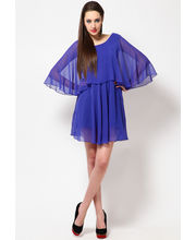 BLUE GGTT short dress-DRF1534, small, l