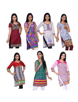 Shiny 7 Unstitched Kurtis Collections