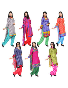 Andrina 7 Unstitched Chudidhar Material